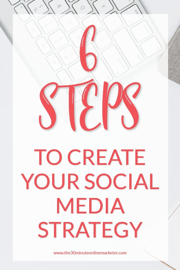Discover how to create a simple social media strategy in only 6 steps. #socialmediastrategy #socialmediatips