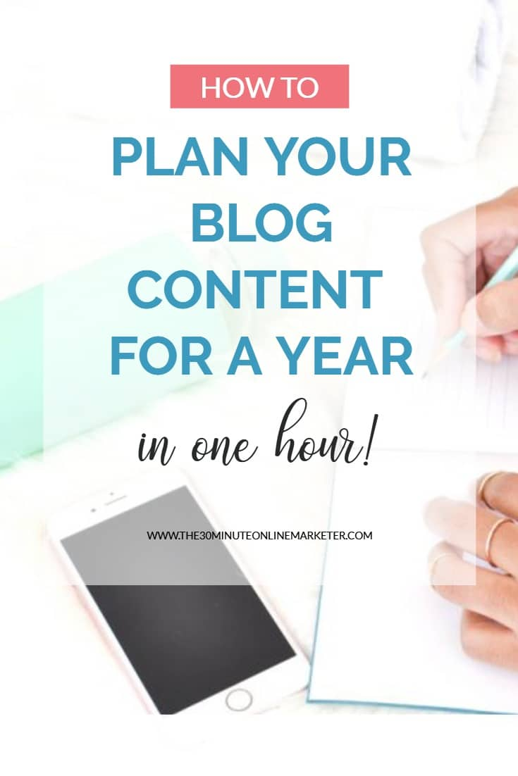 How to plan your blog content for a year in 1 hour