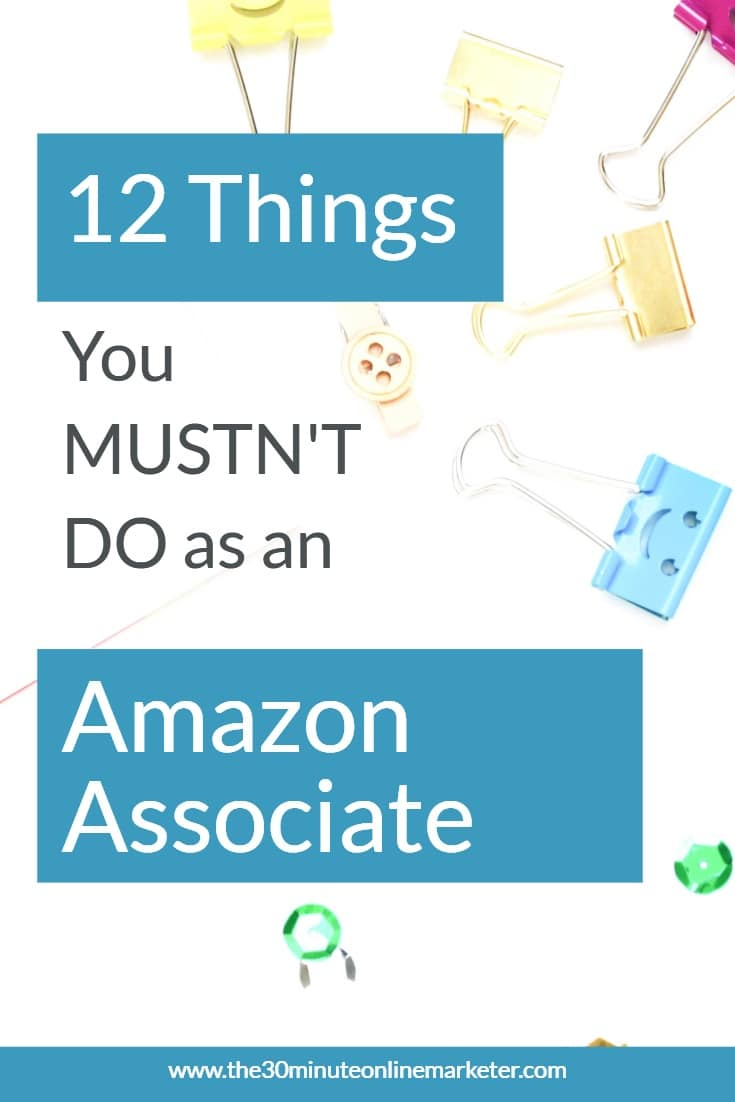 You could get banned as an Amazon affiliate if you make these mistakes. Check them out to avoid being banned from the Amazon Associates Program. #affiliatemarketing #amazonassociatesprogram #makemoneyblogging