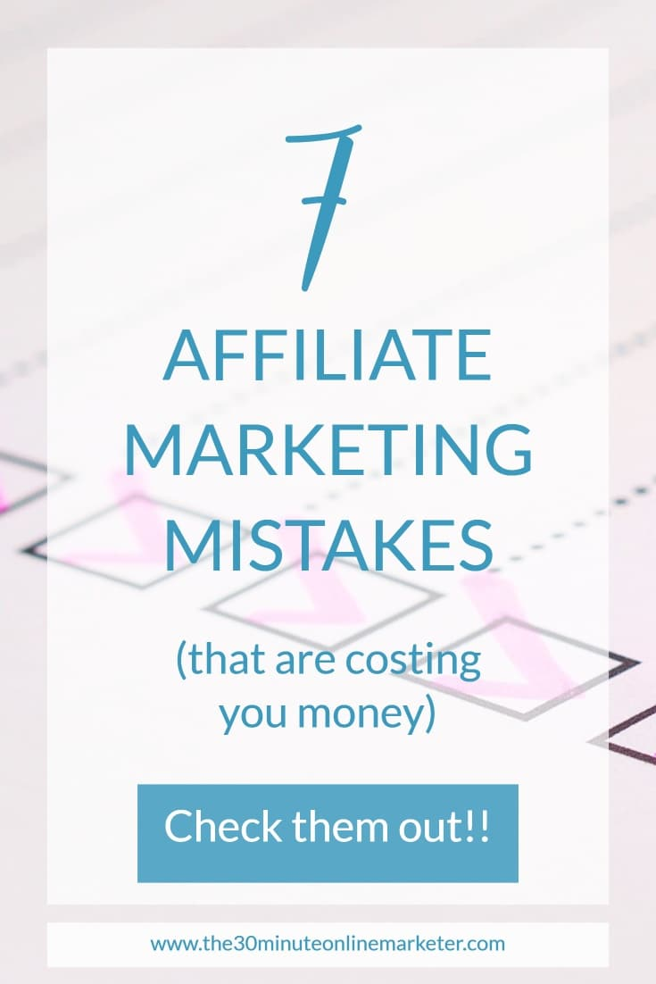 7 Affiliate Mistakes new bloggers make