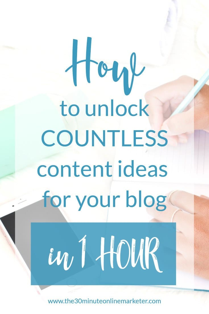 How to unlock countless content ideas for your blog in 1 hour