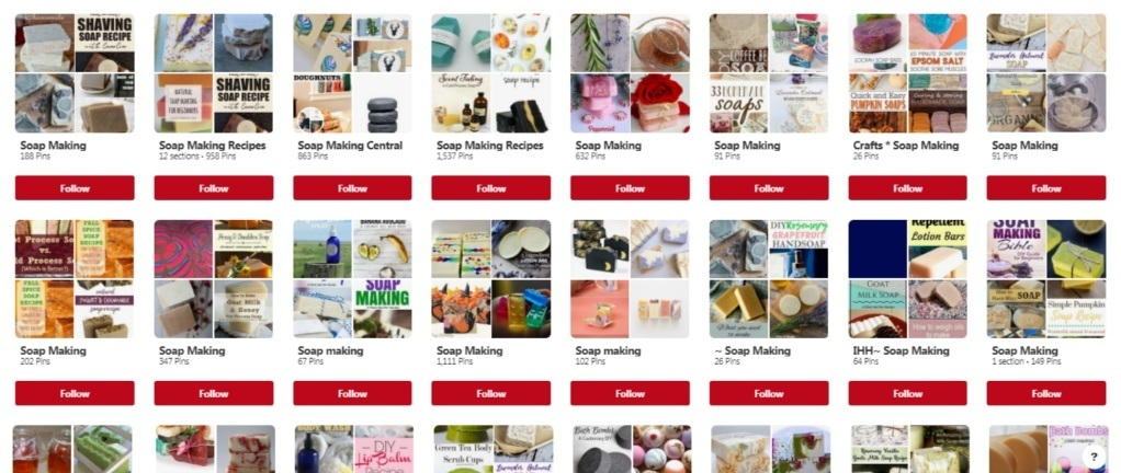 Soap Making Boards in Pinterest