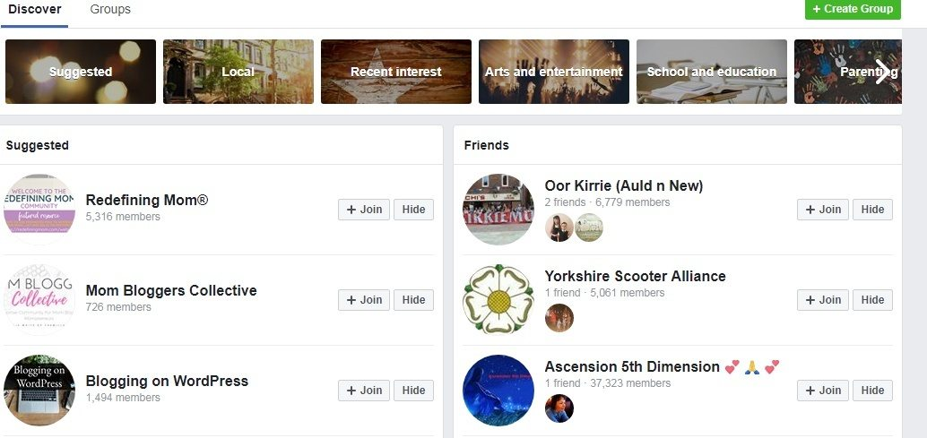 Discover Facebook Groups