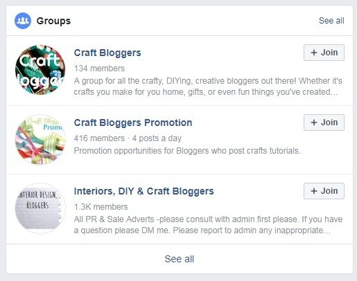 Craft blogger facebook groups
