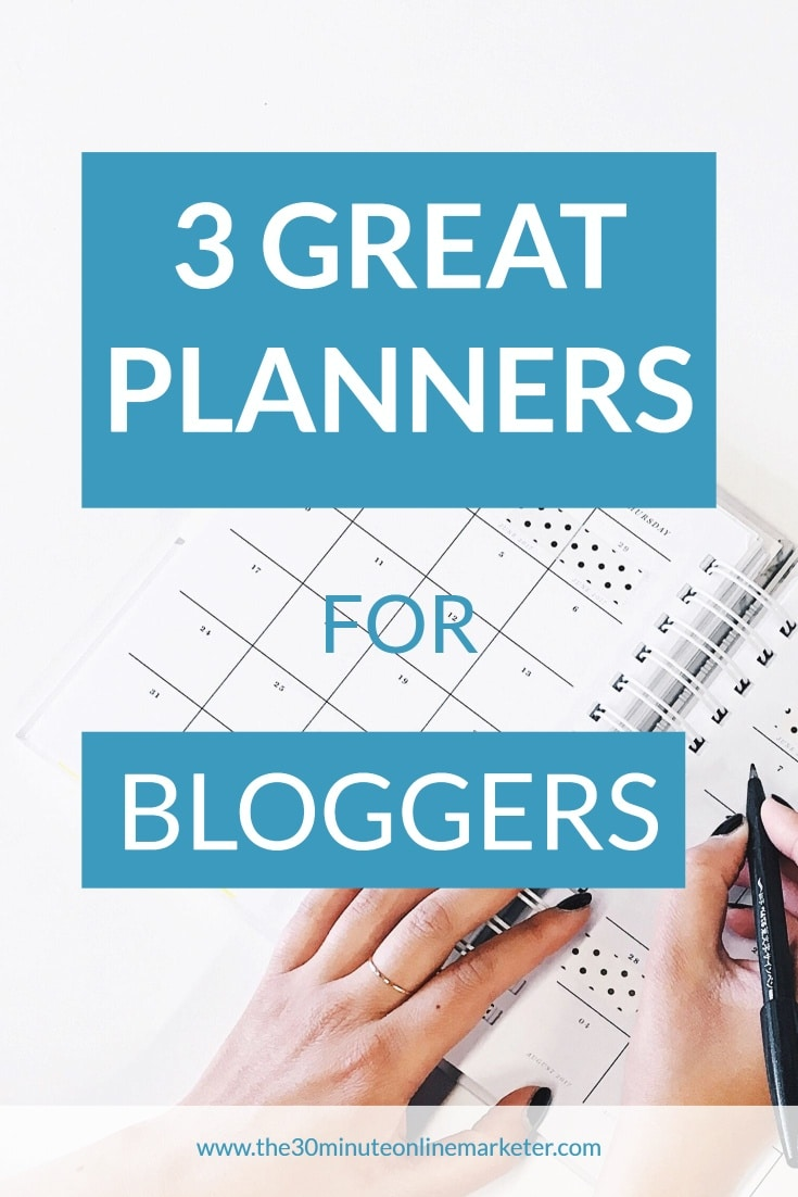 3 great planners for bloggers