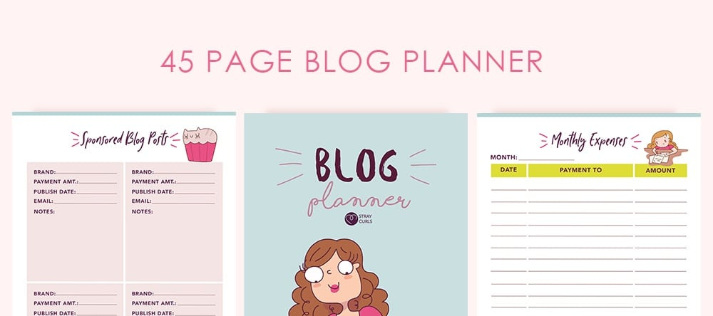 Stray Curls Blog Planner