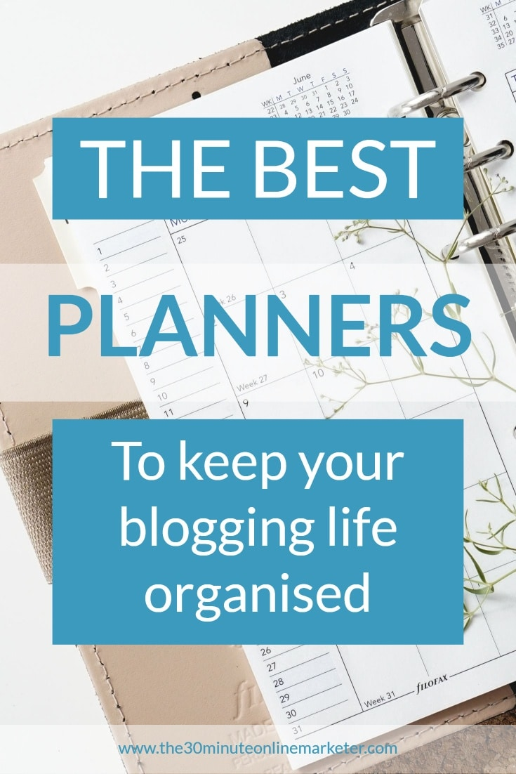 the best planners for bloggers