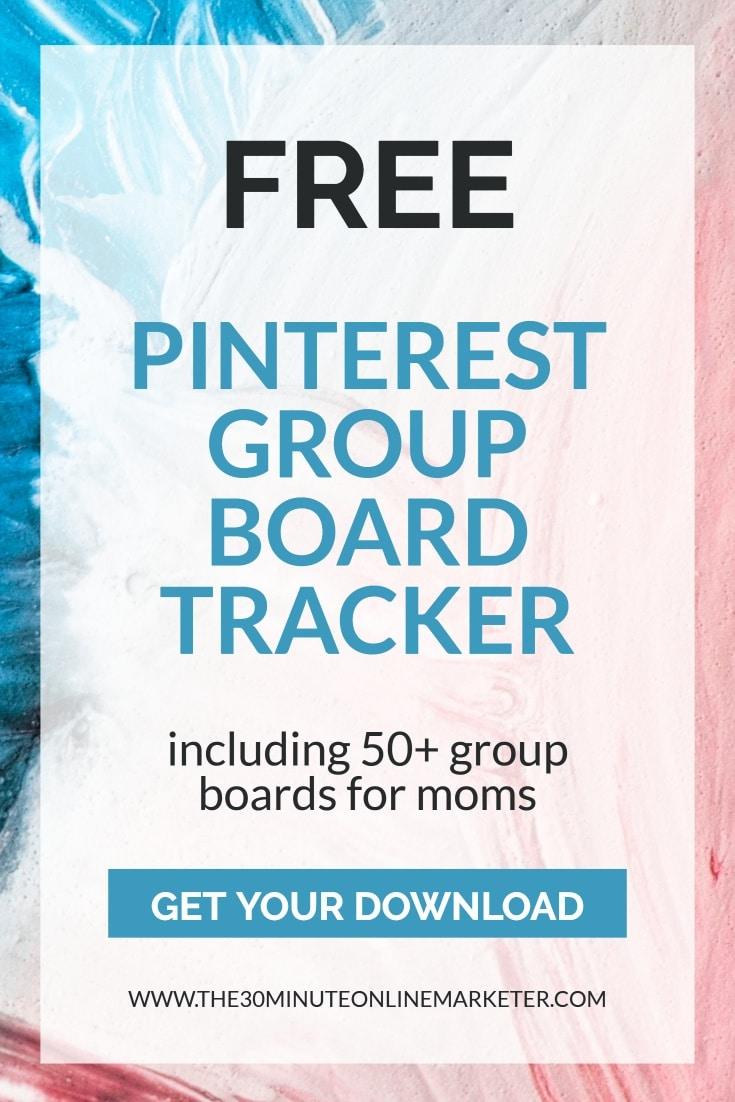 Free Pinterest Group Board Tracker