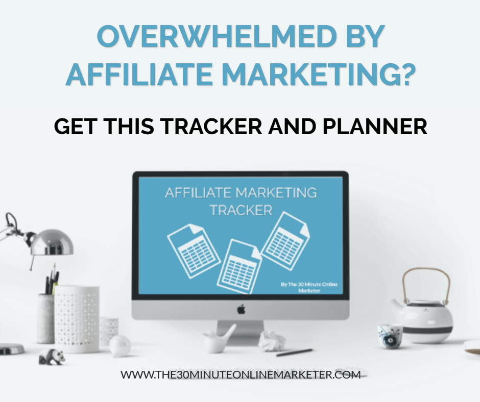 Affiliate marketing tracker and planner