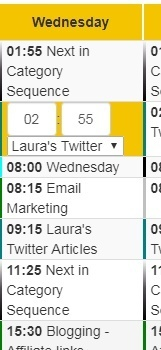 Changing categories in SocialBee Schedule