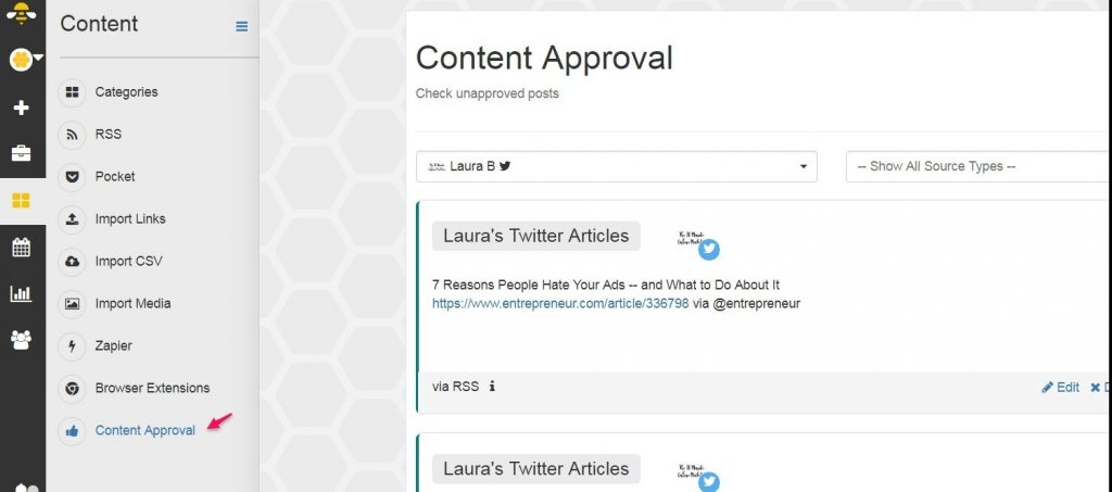 Content Approval in SocialBee
