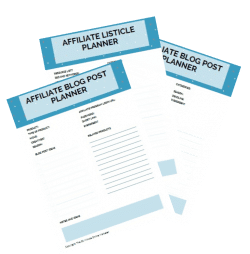 AFFILIATE PLANNER SHEETS
