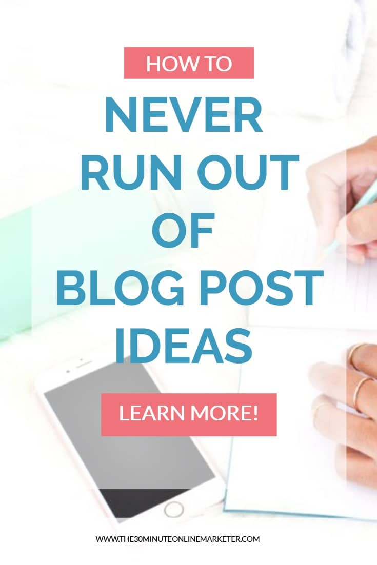 Never run out of blog post ideas