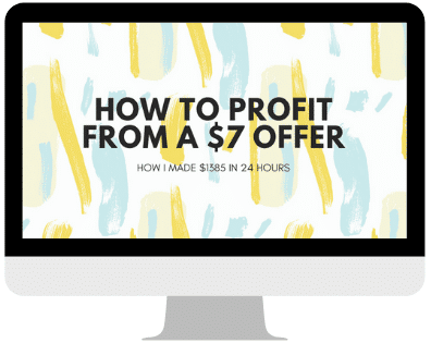 How to profit from a $7 offer