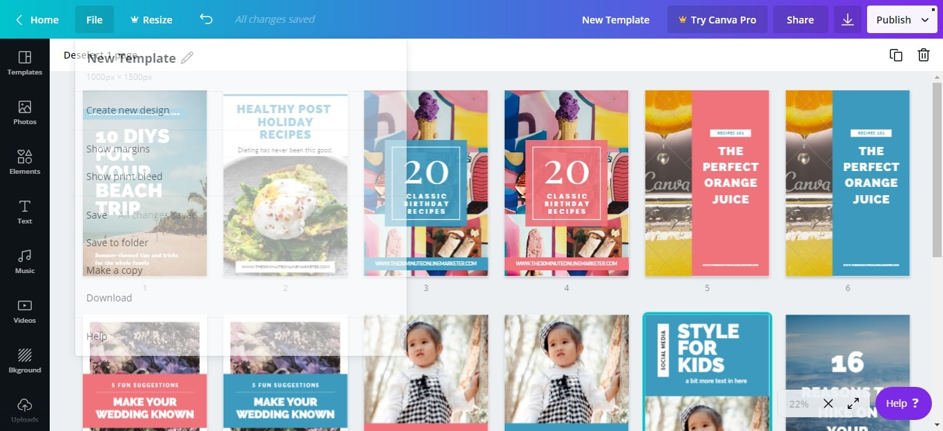 How to create multiple Pinterest templates in minutes