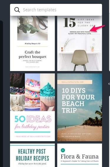 Create 20 Pinterest templates in minutes