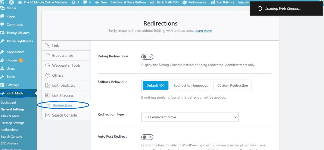 Adding Redirections