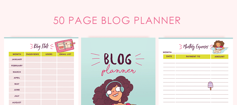 50 Page Blog Planner