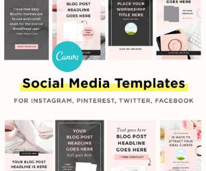 Bluchic Social Media Templates