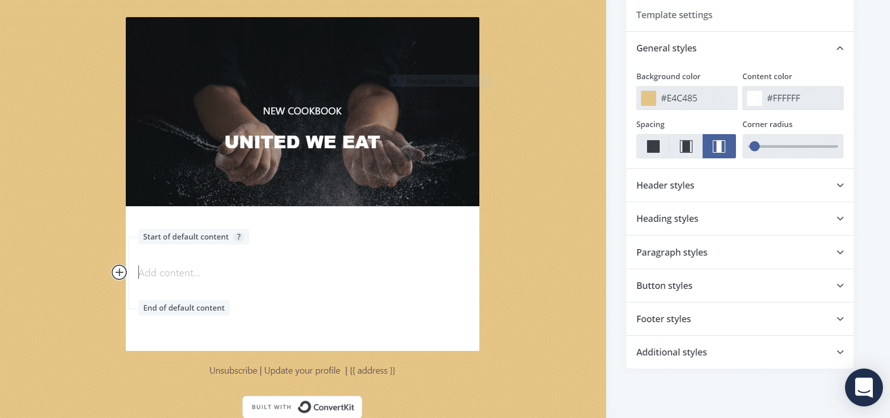 How to edit an email template in ConvertKit